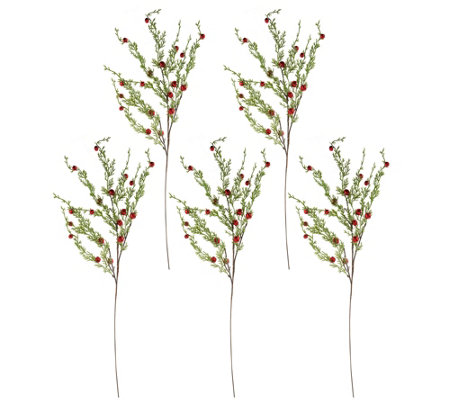 """As Is"" Set of 5 26"" Cascading Jingle Bell Stems"