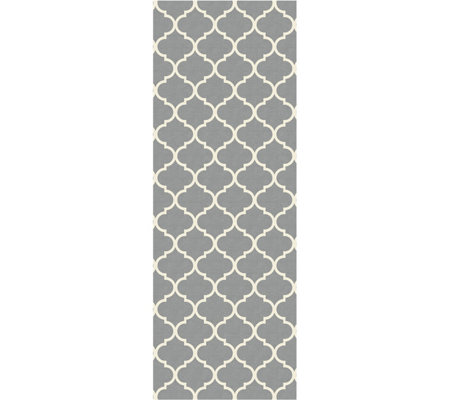 Ruggable Moroccan Trellis Runner 2pc Washable Rug System