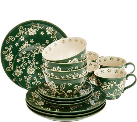 Cook's Essentials Santa Rosa 16-Pc Ceramic Dinnerware Set