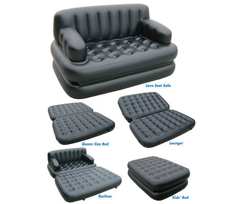 Pure comfort five in one sofa air bed qvccom for Qvc sofa bed