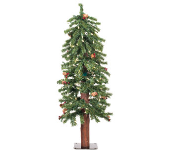 4' Prelit Frosted Alpine Berry Tree by Vickerman - H286653