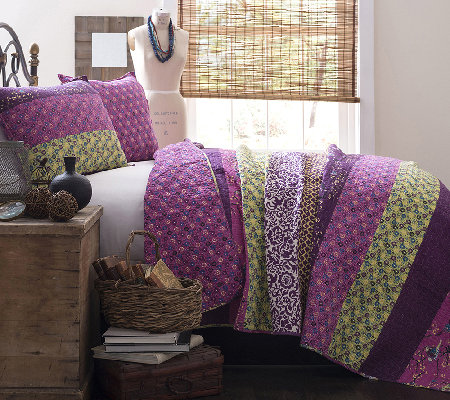 Royal Empire 3-Piece Plum Quilt King Set by Lush Decor