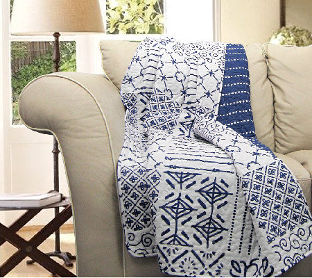 Monique Blue Throw Blanket by Lush Decor