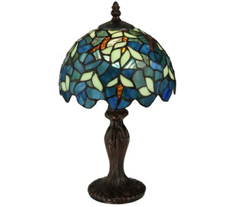 "Meyda Tiffany-Style 14""H Nightfall Wisteria Mini Lamp - H288153"