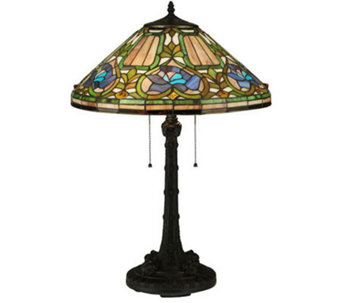 "Tiffany Style 26-1/2""H Floral Table Lamp - H350953"