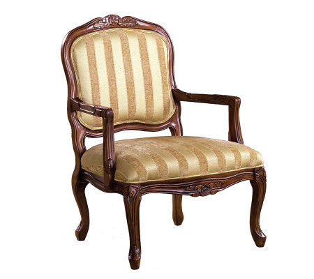 Burnaby Antiqued Oak Finish Accent Chair
