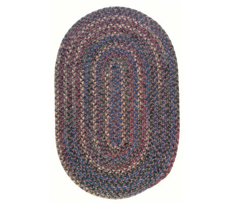 Twilight 7' x 9' Oval Wool Blend Braided Rug byColonial Mills