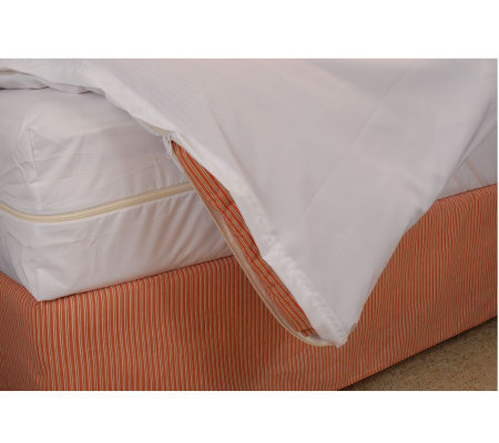 bed bug allergy relief duvet cover full queen qvccom With bed bug comforter cover
