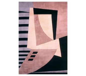 "Momeni New Wave Abstract 5'3"" x 8' Handmade Wool Rug - H161754"