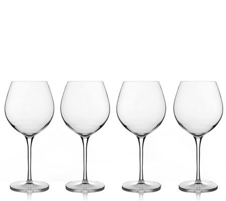 Luigi Bormioli 22.5 oz Bourgogne Wine Glasses -Set of 4