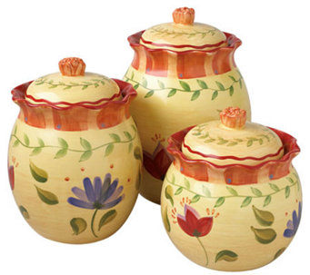 Pfaltzgraff Napoli 3 Piece Sealed Canister Set - H177454