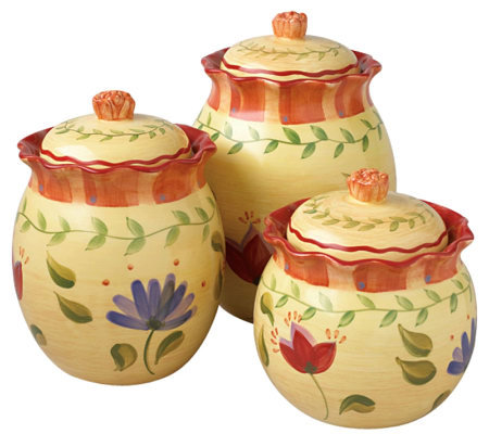 Pfaltzgraff Napoli 3 Piece Sealed Canister Set