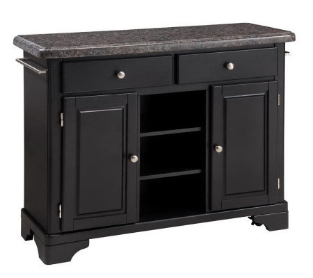 Home Styles Premium Create a Cart with Salmon Granite Top