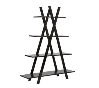 "Home Reflections Amber Black ""X"" Etagere - H185454"