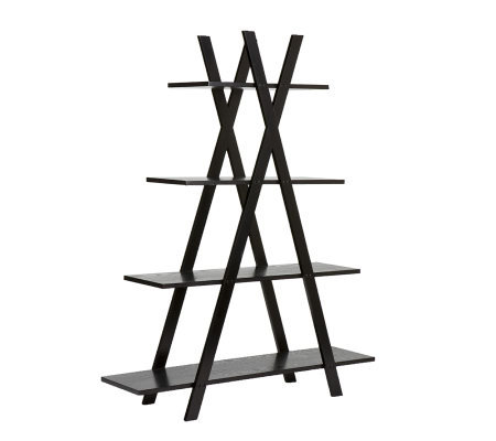 "Home Reflections Amber Black ""X"" Etagere"