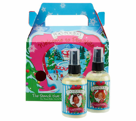 Poo Pourri S 2 4oz Holiday Bathroom Deodorizers With Gift