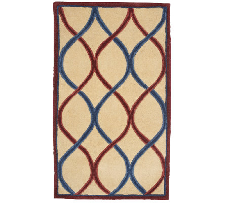 "Royal Palace Trellis 30"" x 50"" Handmade Wool Rug"