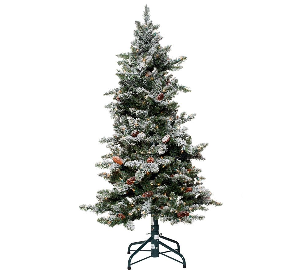 Bethlehem Lights 5' Woodland Pine Christmas Tree w/Instant Power ...