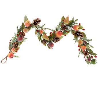 5' Sugared Fruit and Pinecone Garland - H203454