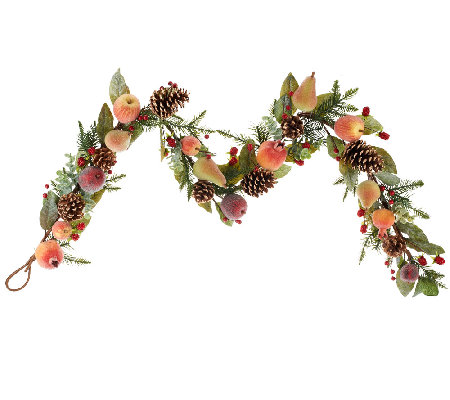 5' Sugared Fruit and Pinecone Garland