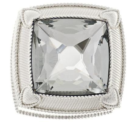 Lovely Judith Ripka Textured Anti Tarnish Round Jewelry Box