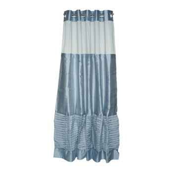 Hookless Pintuck Pleated 3 in 1 Shower Curtain