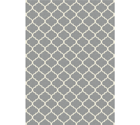 Ruggable Moroccan Trellis 5'x7' 2pc Washable Rug System