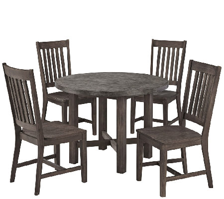 Home Styles Outdoor Concrete Chic 5-Piece Dining Set