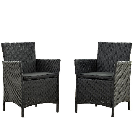 Cosco Outdoor Set of 2 Jamaica Resin Wicker Dining Chairs