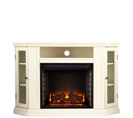 Claremont Convertible Media Fireplace - Ivory