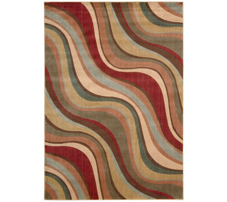 "Nourison Atlas 2'3"" x 8' Rythmns Machine-Made Rug"