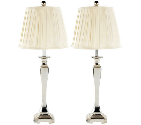 Safavieh Champagne Table Lamp/Bavaria Cream Pleated Shades