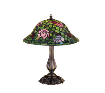 "Tiffany Style 20"" Rose Bush Table Lamp - H122455"