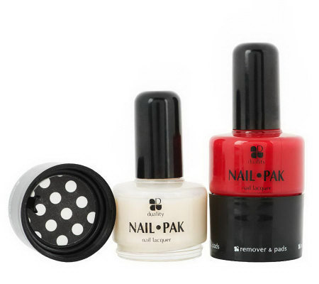 Set of 2 Nail Pak All n' 1 Polish Remover & File by Lori Greiner