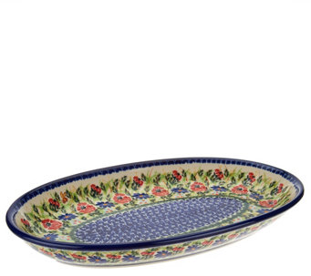 Lidia's Polish Pottery Serving Platter - H202555