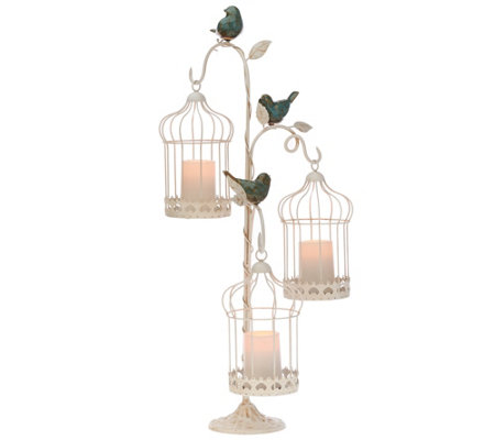 Illuminated Indoor/Outdoor Birdcages with Stand by Valerie