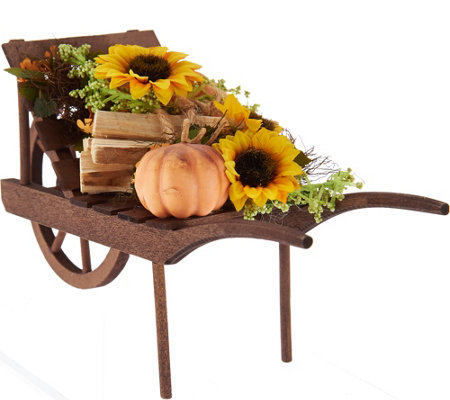 Byers Choice Harvest Wheelbarrow Filled with Fall Favorites