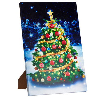 """As Is"" Mr. Christmas Lit Holiday Wall Art with 12 Songs & Easel"