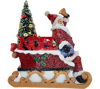 """As Is"" Kringle Express Illuminated Snowman or Santa w/ Tree - H210955"
