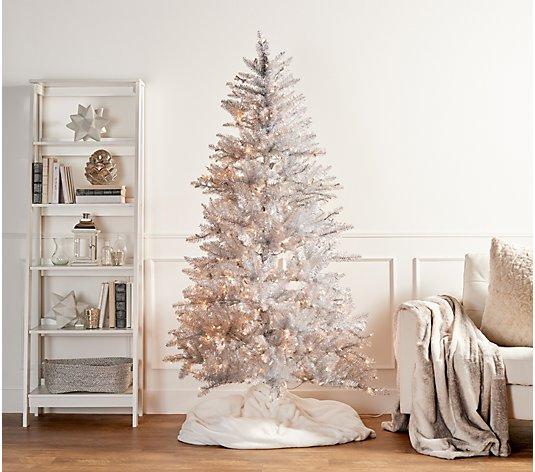 Martha Stewart 6 5 Pre Lit Designer Tinsel Tree Qvc Com