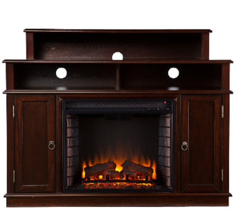 Monroe Media Console/ Stand Electric Fireplace,Espresso - H282455