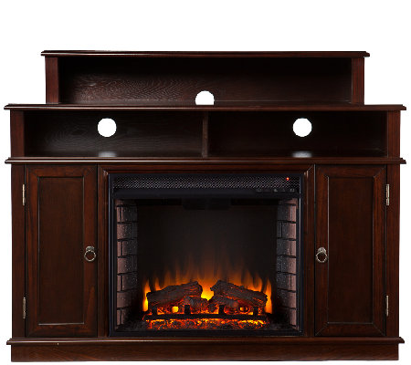 Monroe Media Stand Electric FireplaceEspresso