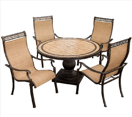 Hanover Monaco 5-Piece Outdoor Dining Set