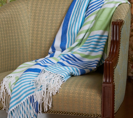 Berkshire Blanket Stripe Woven Throw