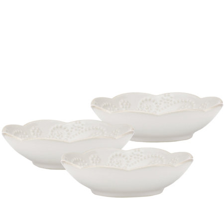 Lenox French Perle Set of 3 Dipping Bowls