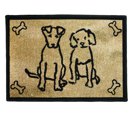 Dog Friends 19x13 Tapestry Rug