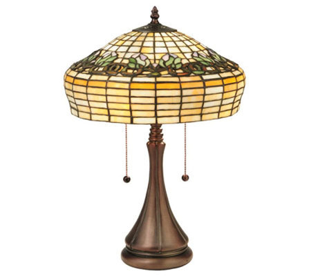 "Tiffany Style 21-1/2""H Duffner & Kimberly TulipTable Lamp"