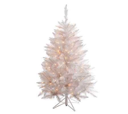 4-1/2' White Sparkle Spruce Tree with LED
