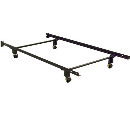 Instamatic Twin Size Bed Frame with 4 Rug Rollers and 2 Locks