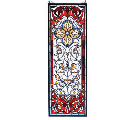 Tiffany Style Versaille Quatrefoil Transom Window Panel